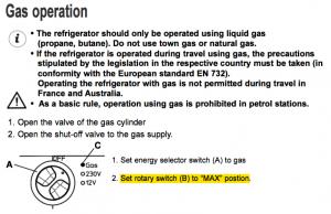 ガス使用時の調整
