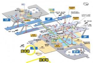 富山駅見取り図