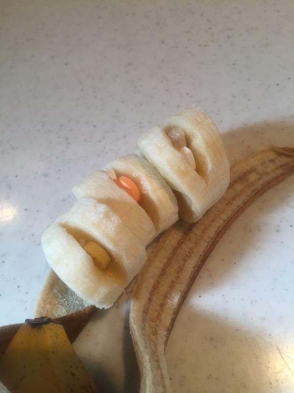 しめじ用バナナとお薬