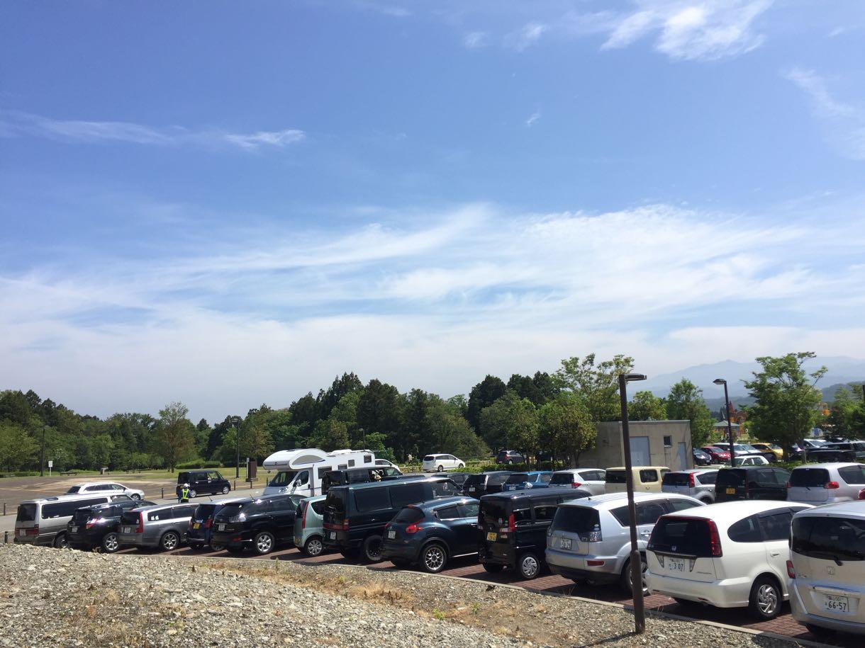 立山クラフト2016の駐車場