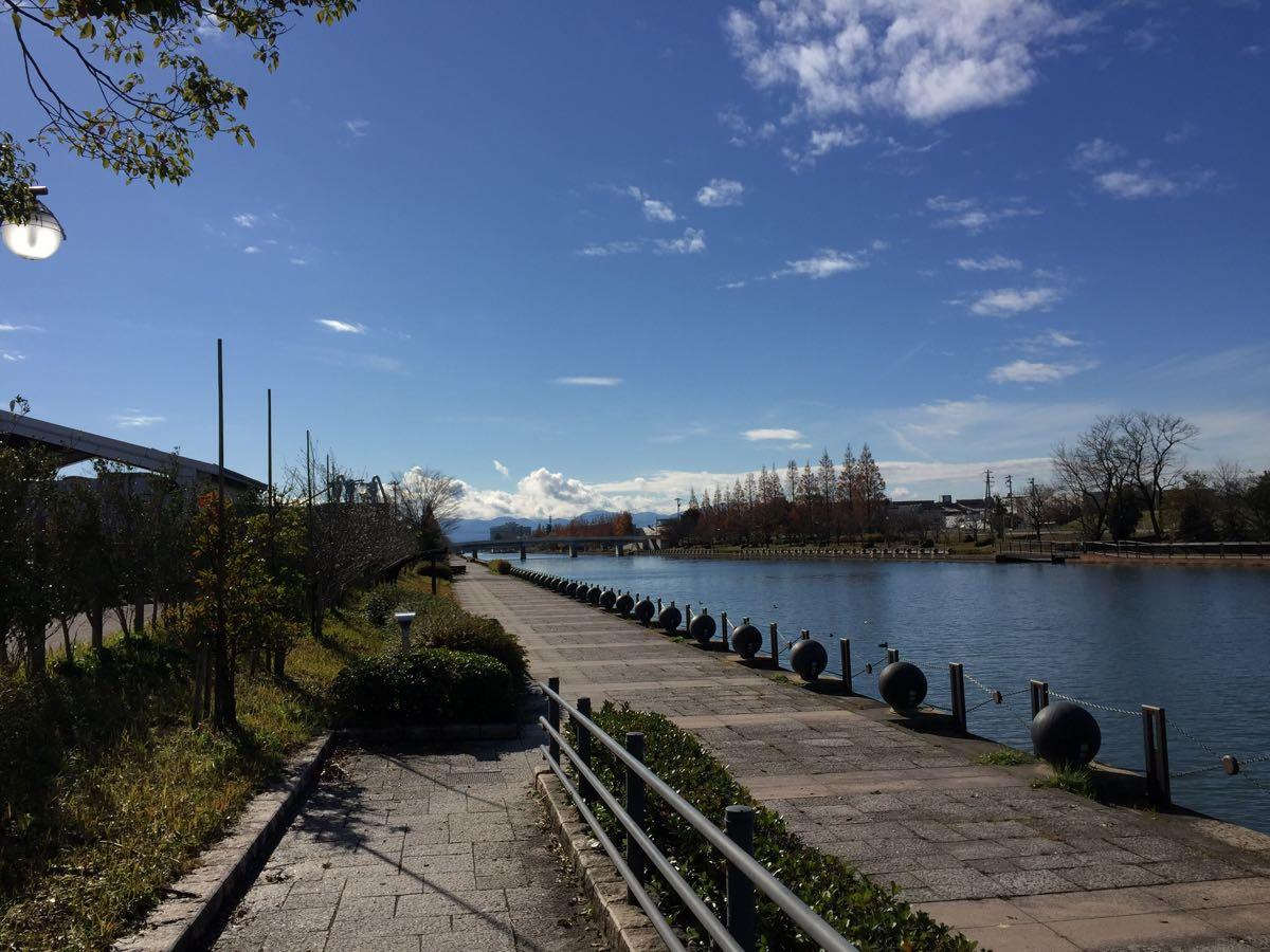 環水公園の次は中島閘門でお散歩