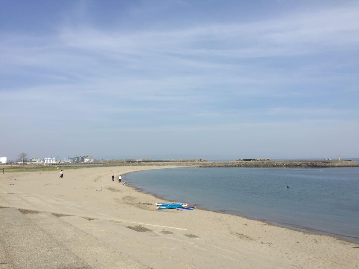 海老江海浜公園と新湊大橋