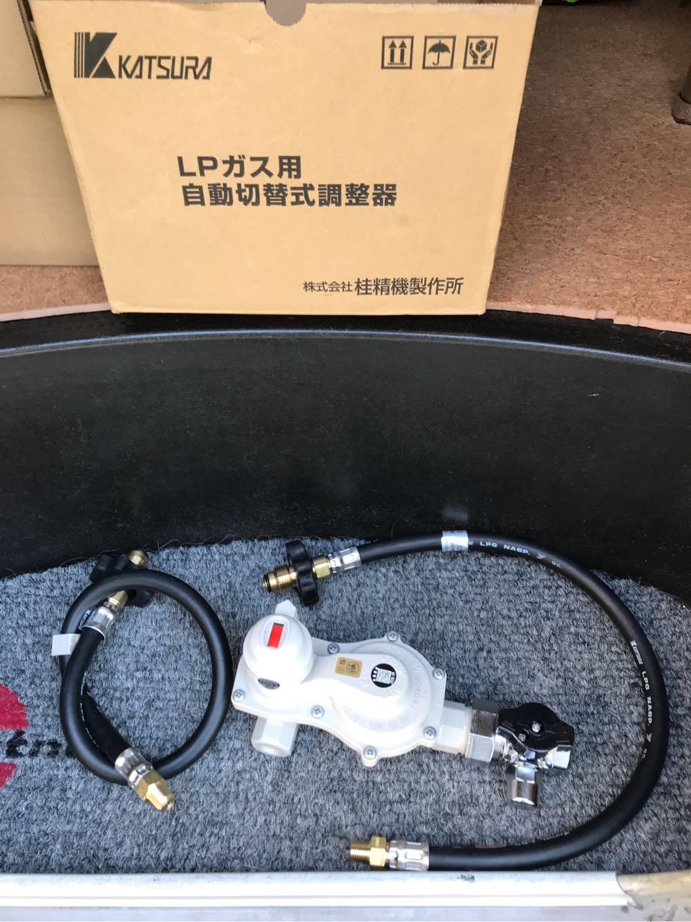 キャンピングカーのガス調整器交換と漏洩検査