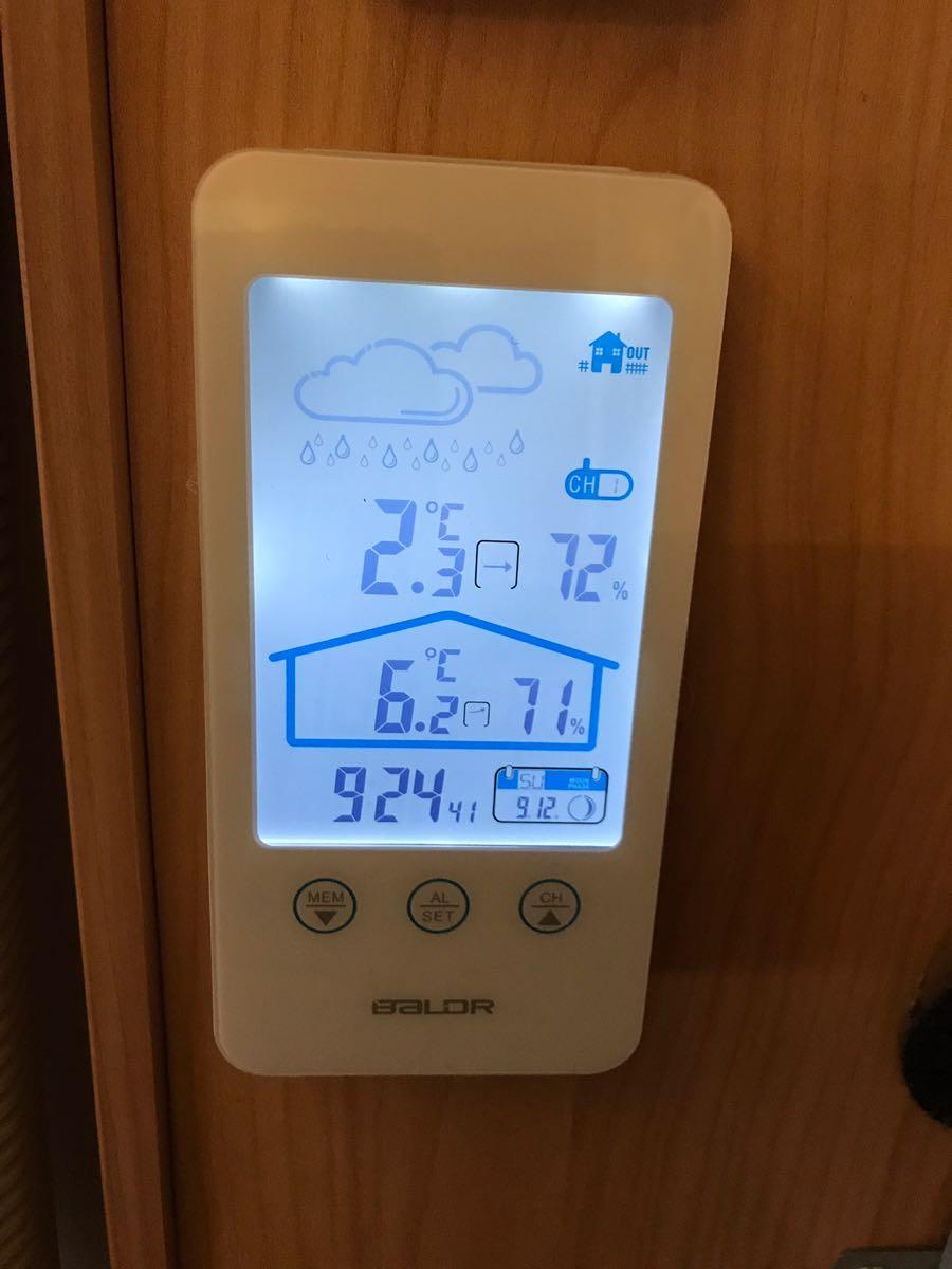イワタニカセットガスストーブで寒い室内を温める