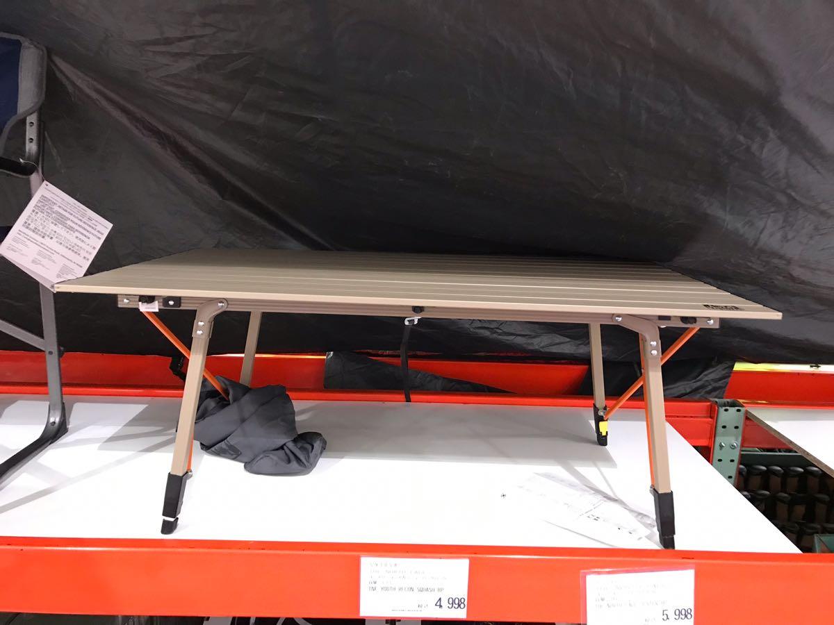 コストコのアルミニウムキャンプテーブル