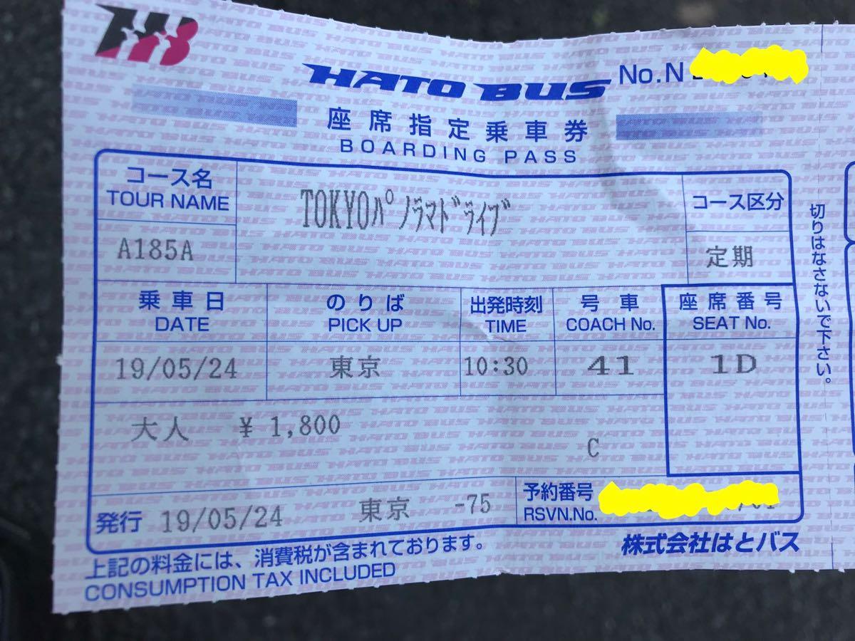 はとバスで東京観光
