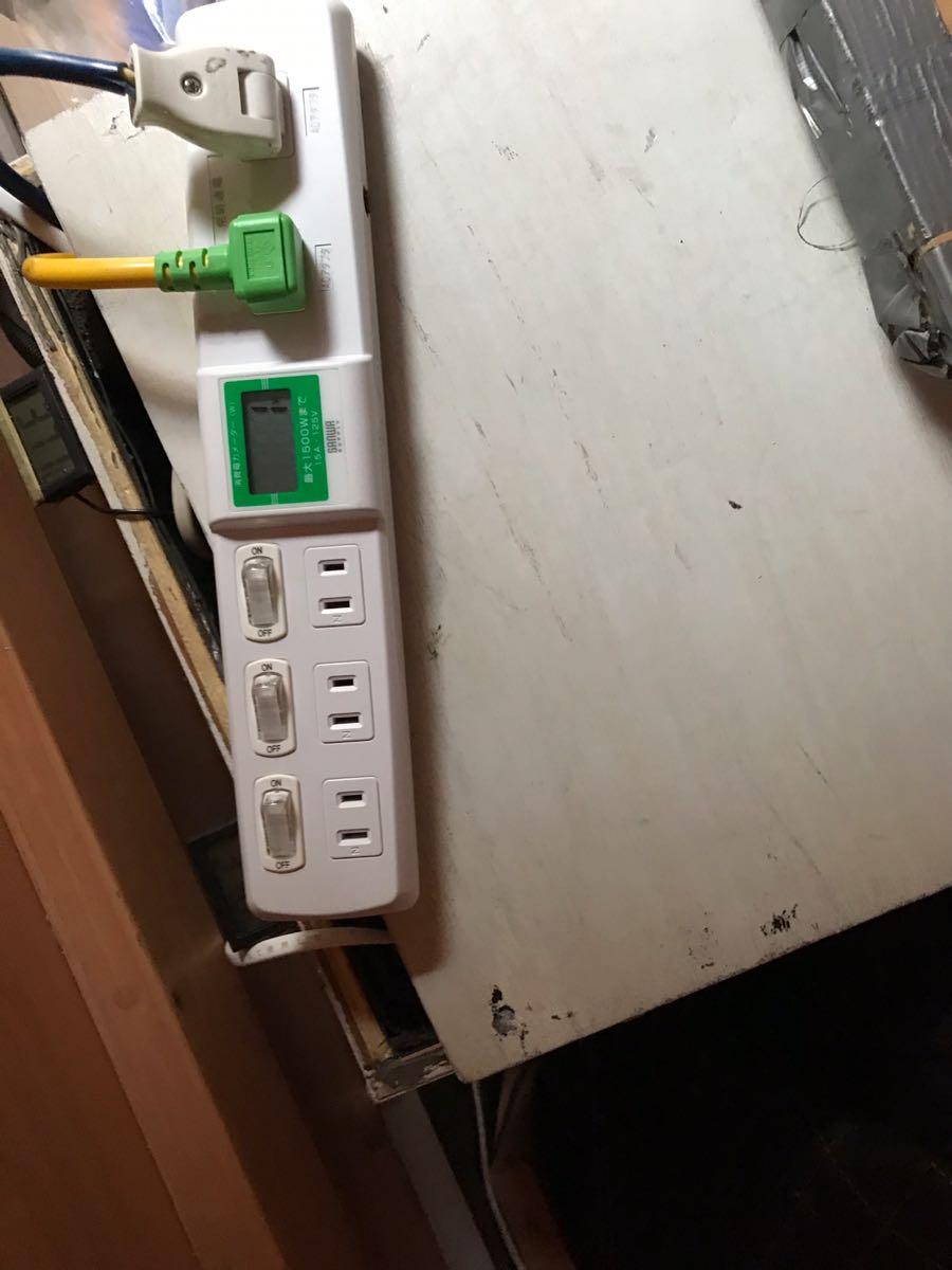 ワットメータで発電機の出力を確認する