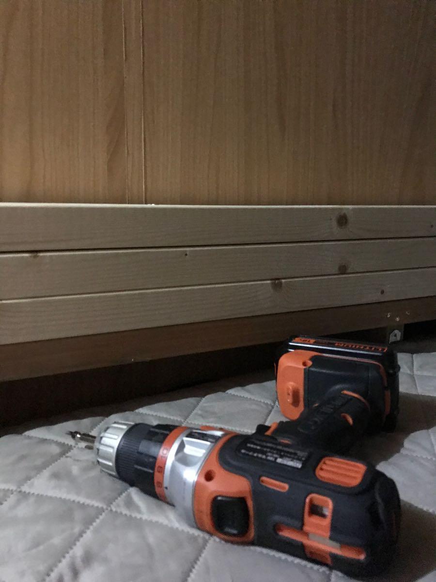 二段ベッドをかさ上げする