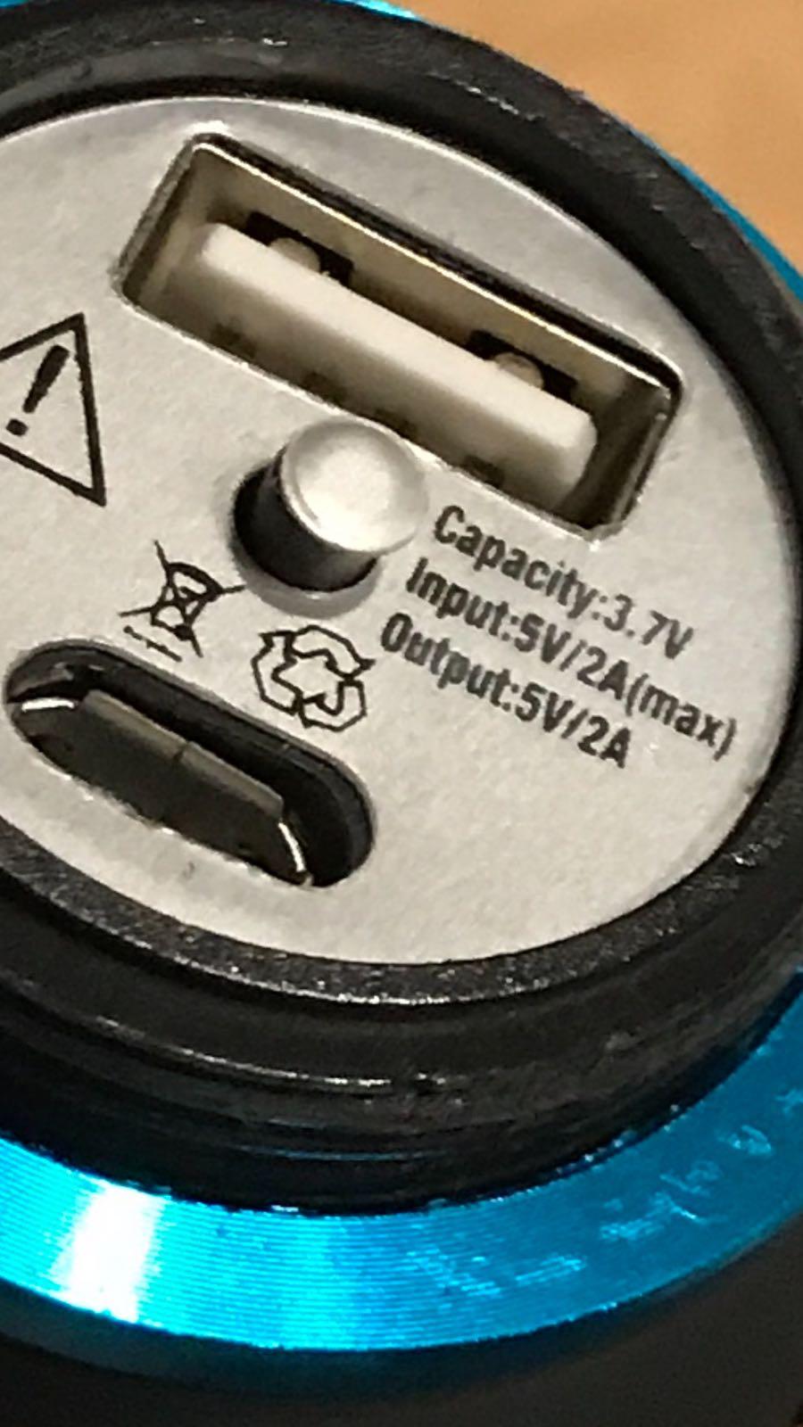 バッテリー内蔵多機能LEDライト