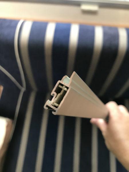 Seitz製ロールブラインドのエンドクリップ交換